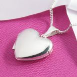 Silver Heart Locket, personalised engraved ref. SPHL1